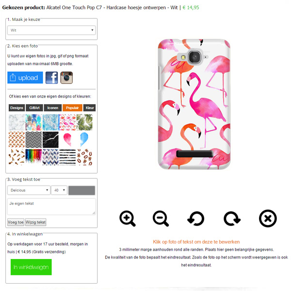 Design your own alcatel one touch pop c7 case