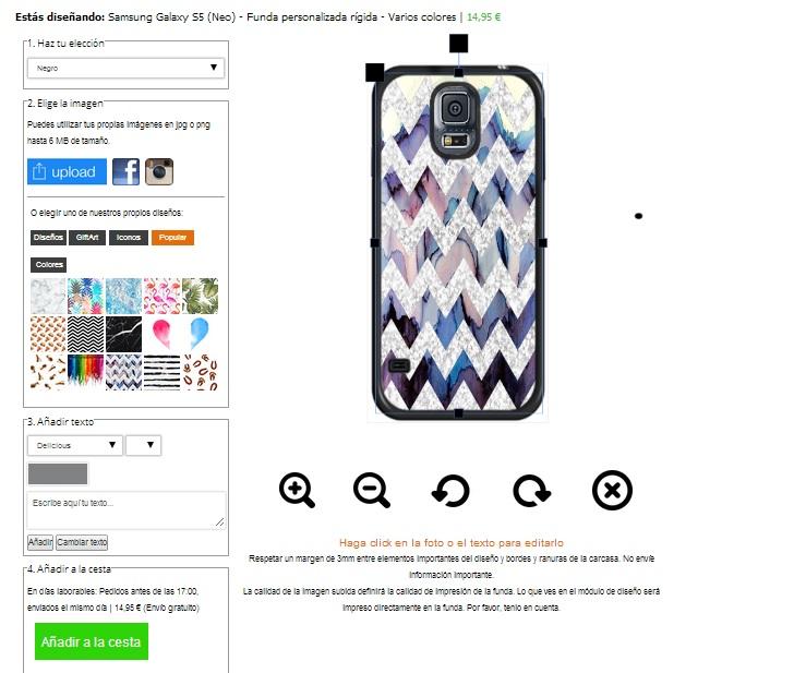 personalised Samsung Galaxy S5 hard case