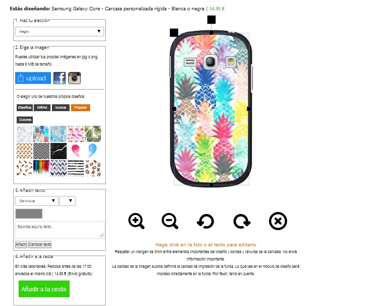 Design your own Samsung Galaxy core case