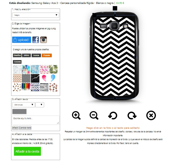 Make your own Samsung Galaxy Ace 3 phone case