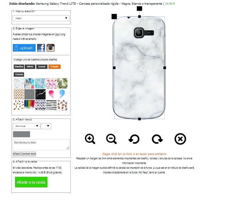 Create your own Samsung Galaxy Trend Lite phone case