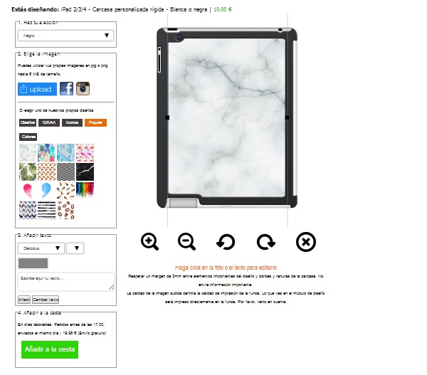 Personalised iPad 4 case