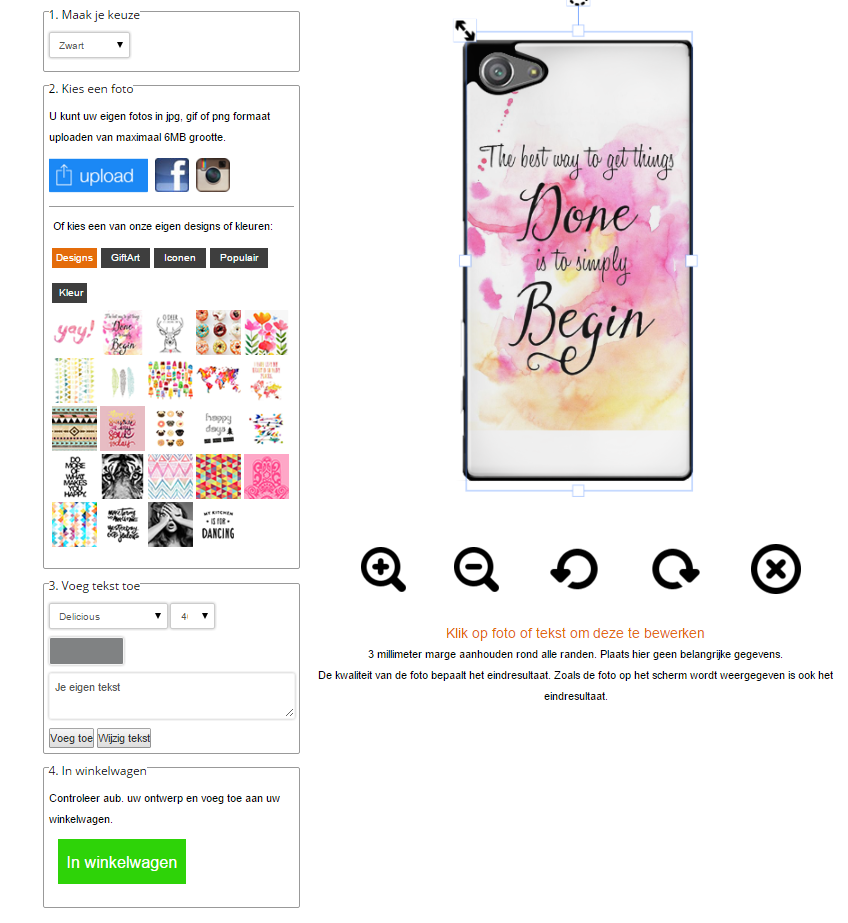 Personalised Sony Xperia Z5 compact case