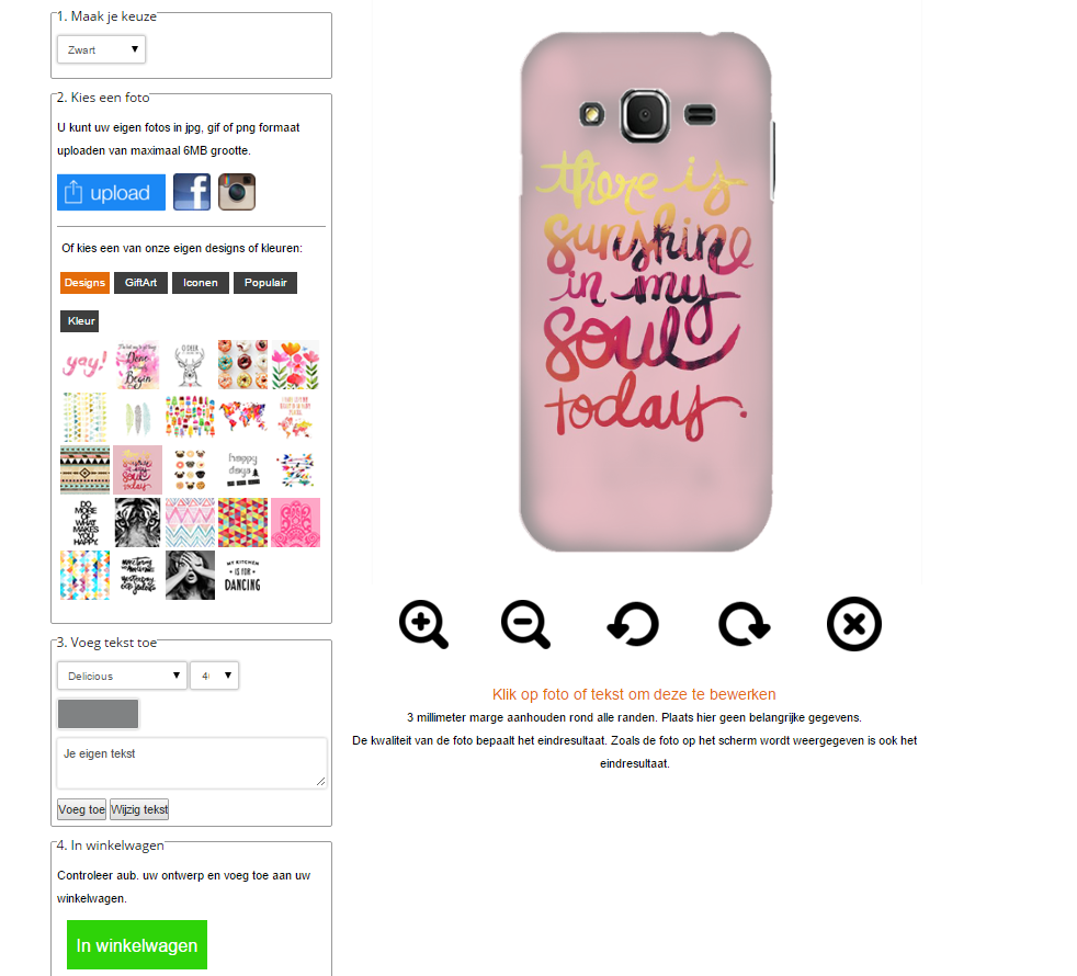 Design your own Samsung Galaxy core prime case