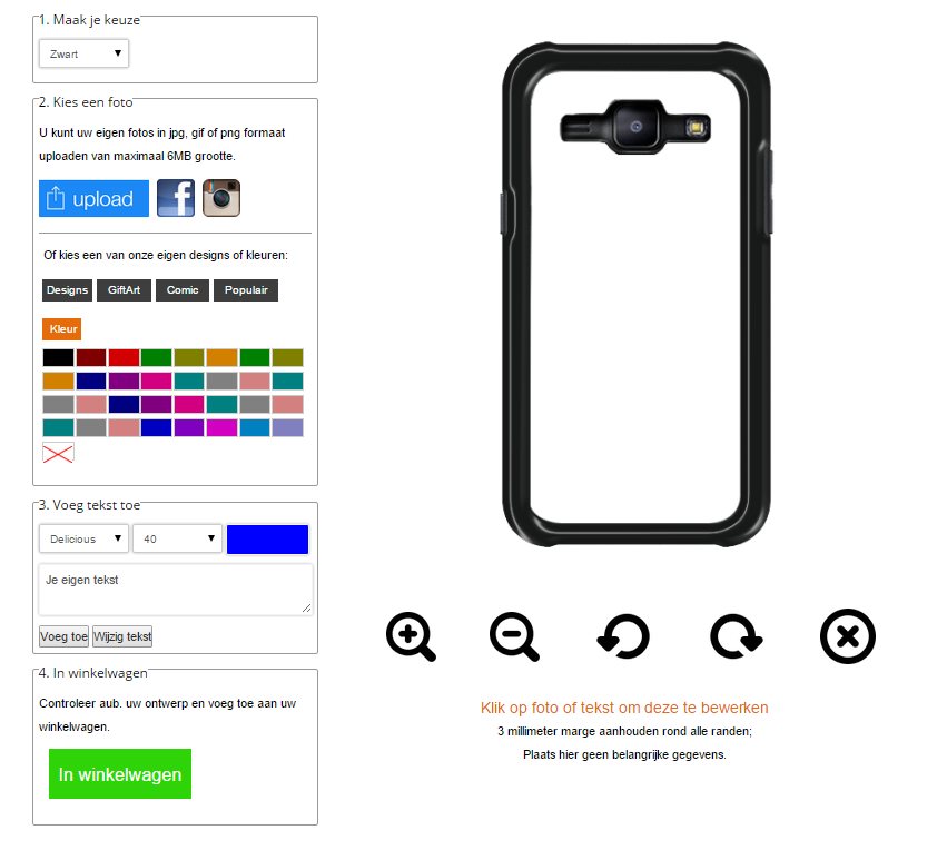 Make your own Samsung Galaxy J1 case