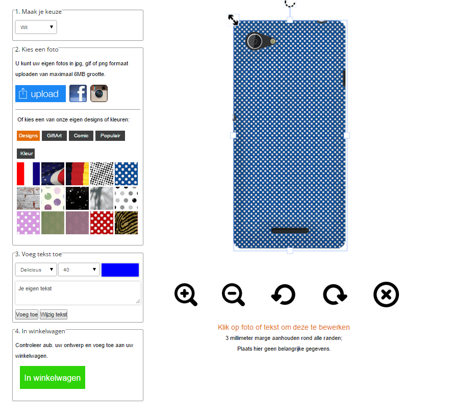 Make your own Sony Xperia E3 hard case