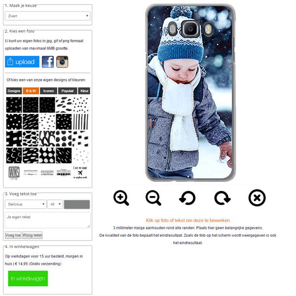 Make your own Samsung Galaxy J7 case