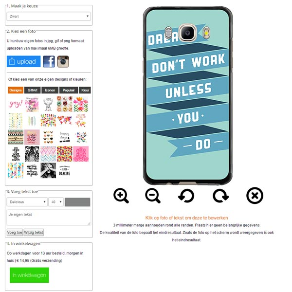 Make your own Samsung Galaxy J5 case