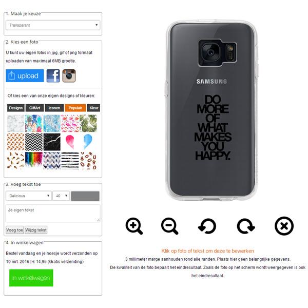personalised Samsung Galaxy S7 Edge case