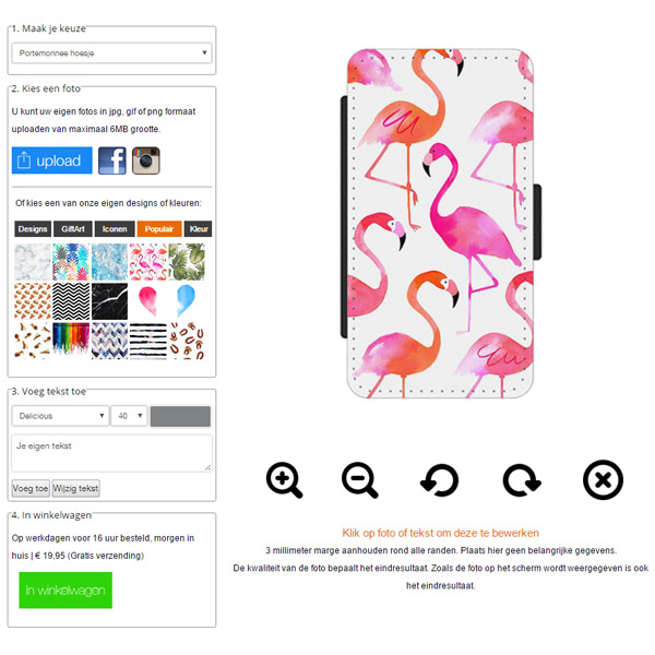 Personalised Samsung Galaxy S7 wallet case