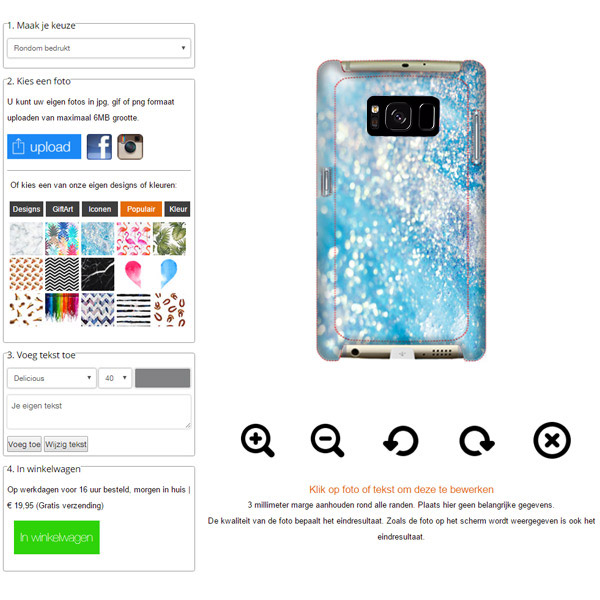 Personalised Samsung Galaxy S8 Hardcase