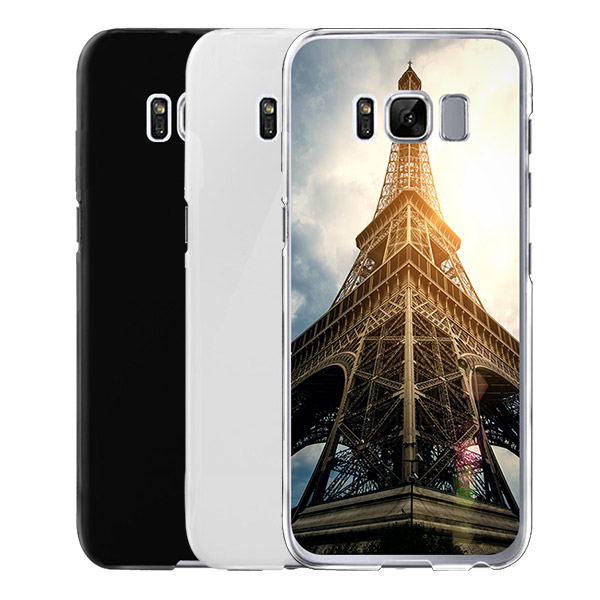 ... Galaxy S8 u2013 Personalised Hard Case - black, white and transparent