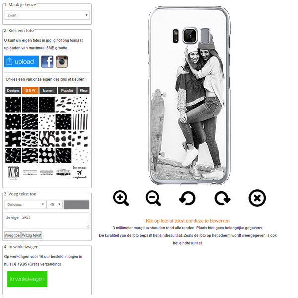 personalised Samsung Galaxy S8 hard case