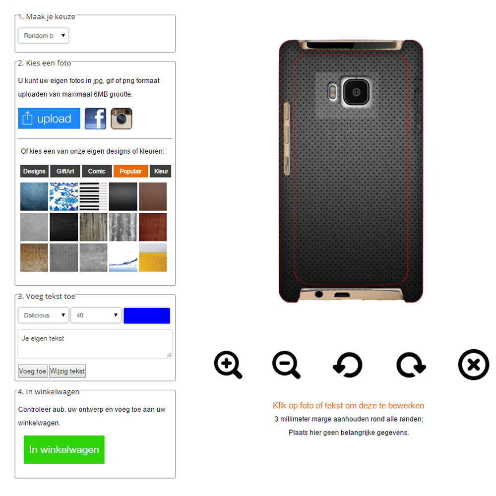 Create your own HTC One m9 case