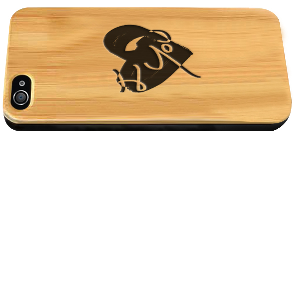 Personalised iPhone 4 wooden case