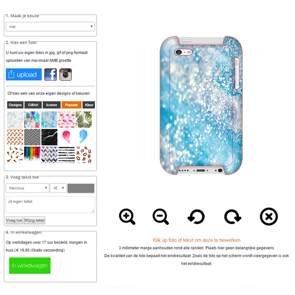 Create your own iPhone 5C phone case
