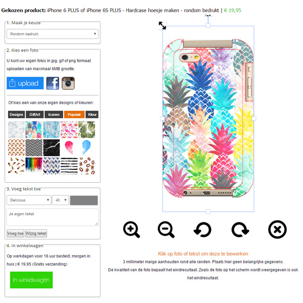 Personalised iPhone 6 full wrap case