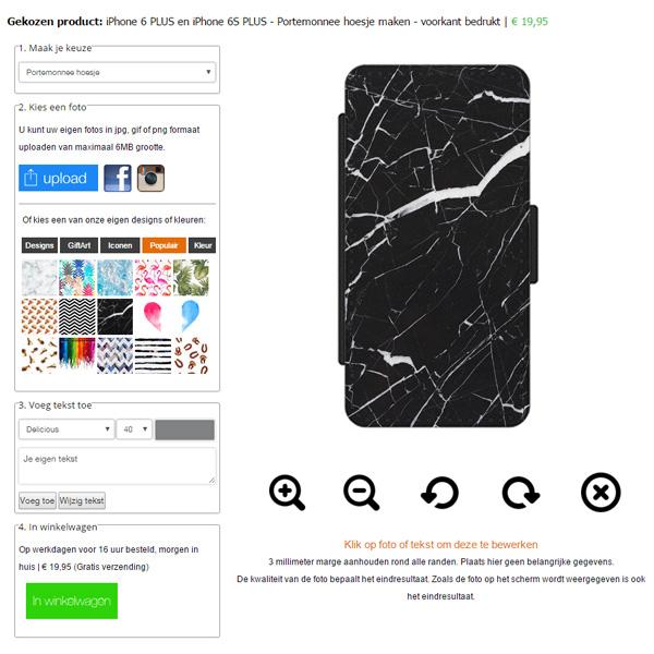 Personalised iPhone 6 Plus wallet case