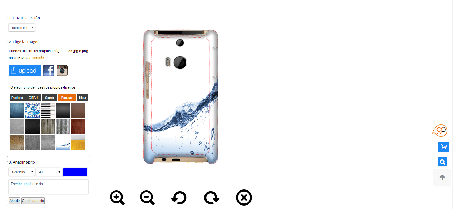 Personalised HTC One M8 case