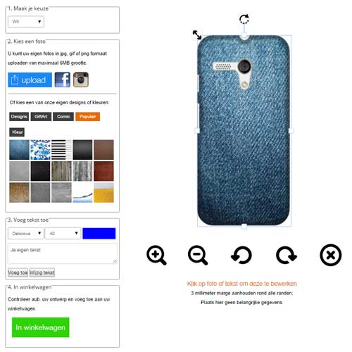 personalised motorola moto g case