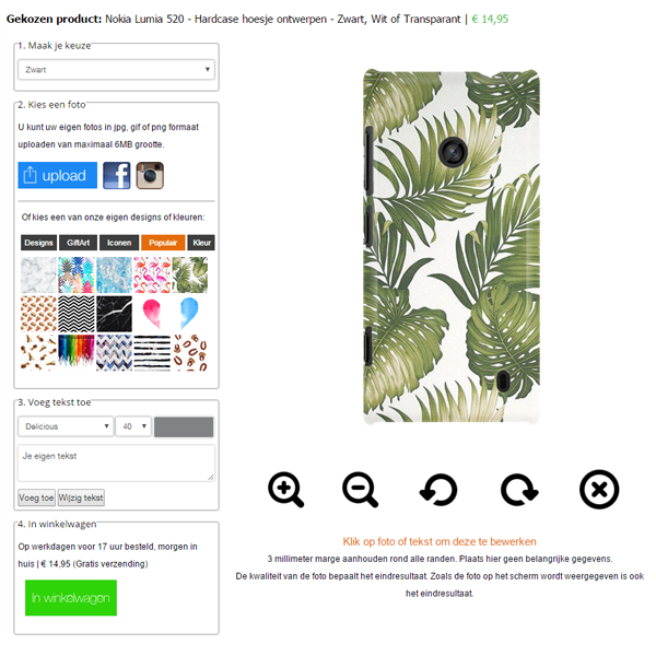 Personalised Nokia Lumia 520 case