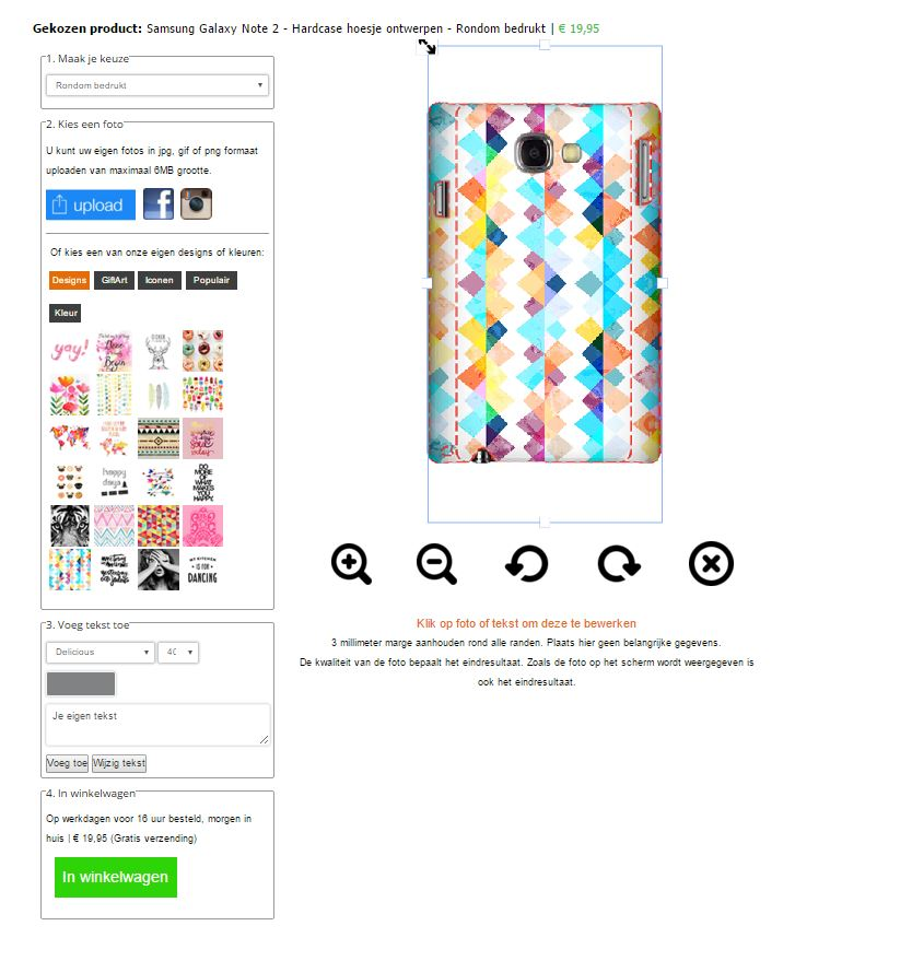 Personalised Samsung Galaxy Note 2 phone case
