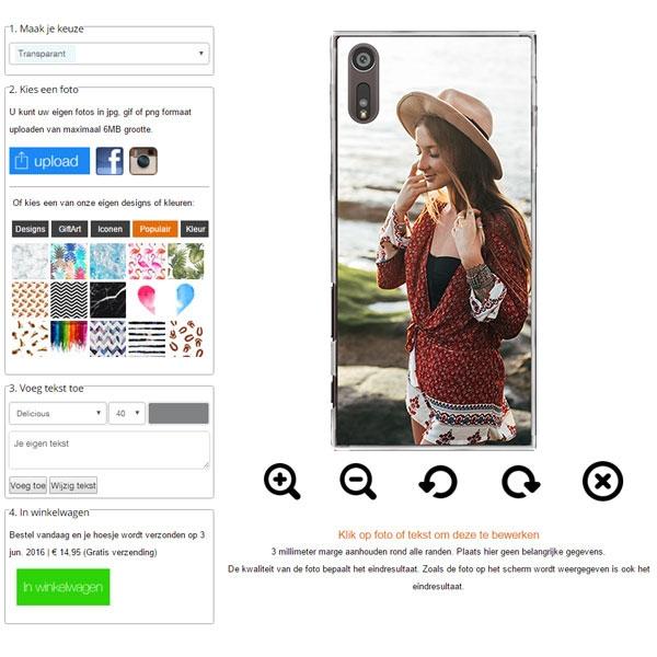 Xperia XZ case with photo