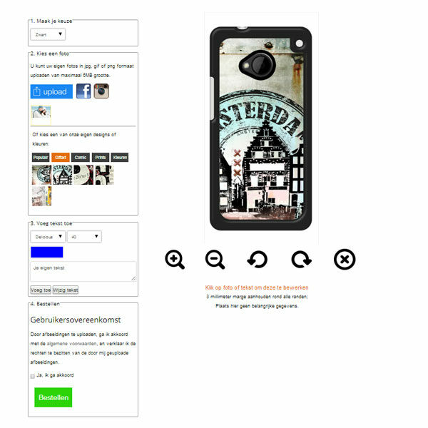 Personalised HTC One M9 phone case